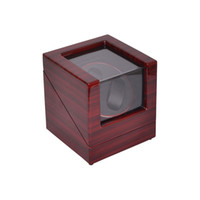 Yes outside display cases - Watch Winder LT Wooden Automatic Rotation Watch Winder Storage Case Display Box Outside is rose red and inside is black