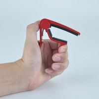 Wholesale Red Single handed Guitar Capo Quick Change Trigger Capo Guitar Accessories Aluminum
