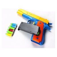 2017 Classic Toys Mauser Pistol Jouets pour enfants Guns Soft Bullet Gun Plastique Revolver Kids Fun Outdoor Shooter Safety 2107265