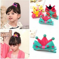 american molding - Kid Girl Baby Princess Barrette Ribbon Crown Molding Hairpin Hair Clips