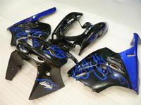Nouvelle moto ABS Kits de carénage Fitment Pour KAWASAKI Ninja ZX9R 1994 1995 1996 1997 ZX-9R 9R 94 95 96 97 Carrosserie réglée flamme noire bleue