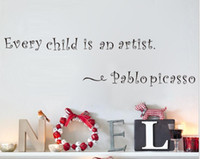 artists bedroom - Fashion Every Child Is An Artist By Pablo Picasso Quotes Wall Decals Black Decorative Letters Stickers For Children Room Home Decor