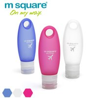 Wholesale M Square ml Travel Empty Cosmetic Containers Plastic Squeeze Bottle Leak Proof Refillable Silicone Bottle Empty Tube