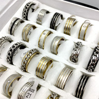 Wholesale Mix Style stainless steel rings Mens Womens fashion jewelry party ring Gift ring Band ring