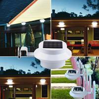 Wholesale New Design Solar Powered Sensor LED Garden Solar Light Led Fence Light Outdoor Sun Wall Corridor Lights Decoration Light