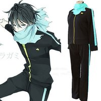 Men animations hot pants - Noragami Stray God Yato Animation Cosplay Costume Sports Outfit Pants Scarf Whole Set Size High Quality Hot