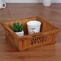 household items - Japanese wooden household items real wood desktop cosmetic boxes Multi function meaty plant pot spot bag mail