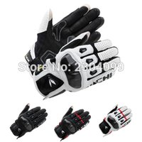 Wholesale New styleTAICHI Gloves RST410 ARMED LEATHER MESH GLOVES Road Racing Bicycle Motorcycle Cycling Touch Screen Gloves