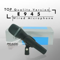 Wholesale Top Quality E945 Professional Dynamic Super Cardioid Vocal Wired Microphone microfone microfono Mike Mic e