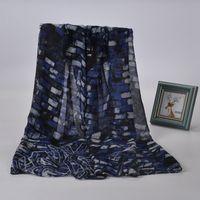 Весенний шарф вискоза Урожай стены кирпича краски кирпича Шарф женщин платок 180 * 90 см Пашмины платок Хиджаб Wrap Стиль бренда XS-010