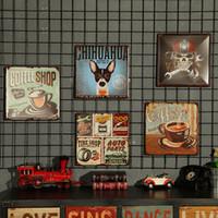 al por mayor estilo industrial-Loft Estilo Industrial Restauración Imagen creativa hecha a mano Hogar Decoración de pared Bares de café Restaurantes exquisitos pegatinas de pared