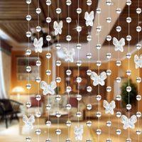 Wholesale Hot M Modern Crystal Glass Waterdrop Curtain Window Curtain Modern Living Room Curtain Wedding Decor