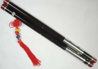 achat en gros de ébène pro-Premium Ebony Bawu Flûte chinoise Ba Wu Pipe Woodwind Dual Pipe # 108 - Pro Niveau