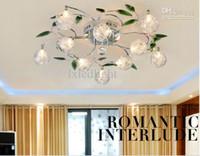 CCC aluminium light shade - Crystal Leaves Aluminium Glass Balls Shade Ceiling Light Pendant Lamp Chandelier