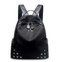 Wholesale Fashion Ladies Backpacks Designer Nylon Oxford Cloth Backpacks Luxury Handbags Women Fashion School Bags Rivet Backpack Style Totes Sale