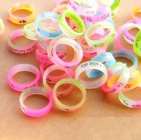 african american shopping - Creative personality jewelry silicone ring hot jewelry stall cute MM ring mm2 yuan shop