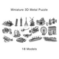 aircraft miniature - Miniature D Metal Model Puzzle Building Kits Laser Cutting Solid Jigsaw Scale Model Ship Fighter Aircraft Car Tank Helicopter