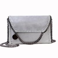 Wholesale 2016 Womens bag vintage leather satchel chain bag stella sling for women shoulder bag tote pu stella bolsa de festa messenger clutch bag