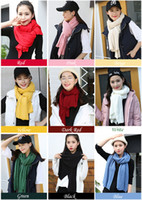 Wholesale New Wool winter cashmere scarf warm Knitted couple Scarves wraps unisex wool scarf shawls for ladies and men Pashmina for women