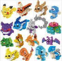 Wholesale Poke Building Blocks Pikachu Anime Diamond Building Block Cartoon Figures Bricks DIY Model Toys Diamond Brick Toy With Retail Box CM G188