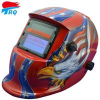Wholesale Red Color Owl Solar Auto Darkening Welding Helmet Welding Equipment TIG MIG MMA ARC Electric Mask Welding Cap