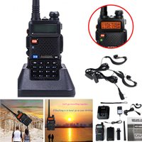 Wholesale New BaoFeng UV R Dual Band DCS DTMF CTCSS FM Ham Walkie Talkies radio Earpiece