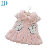 angora clothing - IDGIRL Baby Girls Dresses Autumn Winter Angora Dresses Vest Thicken Velvet Princess Dress Children Cartoon Clothing TH056