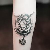 arm star tattoos - Temporary tattoos d star circle chain crown arm fake transfer tattoo stickers hot sexy men women spray waterproof designs