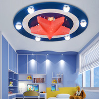 Wholesale Kid s Room Lighting Captain America Ceiling Lights Child Bedroom Cartoon LED W LED W for Living Room Home Decoration Lamp