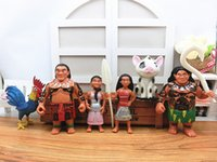 baby adventure - Moana Princess Maui Hei Pua Cartoon Movie PVC Action Figures Moana Adventure Ornaments Doll Toy Christmas Gift For Baby