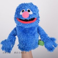 baby grover - plush toy stuffed doll Sesame Street soft puppet elmo cookie monster grover bedtime story model baby christmas birthday gift pc