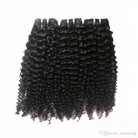 afro curl weave - Afro kinky curl human hair weave A Cambodian Brazilian Curly Hair bundles virgin remy hair extension natural color hair weave Quercy Hair