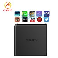 T95X 2GB / 1GB 8GB Android cajas Amlogic S905X Cuádruple Núcleo Android6.0 Kodi16.1 Totalmente Cargado TV Box Miracast WiFi DLNA Caja XBMC IPTV