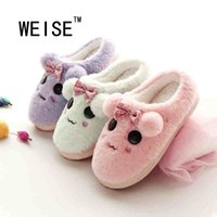animations flip flop - Cartoon Animation Winter Soft Plush Home Slippers Women Shoes Non Slip Waterproof Indoor Shoes Cute Cotton Men Women Slippers