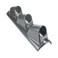 auto meter pillar gauge pods - mm Universal Hole Left Hand Drive Auto Car A Pillar Carbon Fiber Triple Gauge Holder Gauge Pod Auto Car Meter