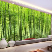bamboo wallpaper walls - Custom Photo Wallpaper Bamboo Forest Wall Painting Living Room TV Background Art Mural Home Decor Wallpaper Papel De Parede D