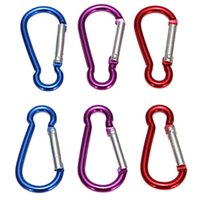 Wholesale Aluminum Alloy R Shaped Carabiner Keychain Hook Camping Hiking Accessory Climbing Carabiner Snap Hook Carabiner Hook Clip Snap Key Ring