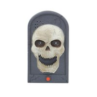 Grownups animated gardens - Electronic Frightful Animated Eyes Light Up Sounds Skull Door Bell Halloween Party Props Hunted Garden Decorations