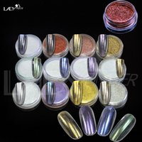 Wholesale Lady Finger g New Arrival Colors Mirror Nails Powder Pigment Powder Dust Chrome Pigment Glitters With Brush