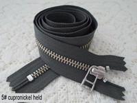 Wholesale ykk plating cupronickel zipper zinc alloy silent zipper cm length of gray shoes bag closed zipper