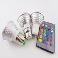 LED RGB Color del proyector 16 E27 / GU10 / E14 CA: 86-265v MR16 CC: 12v RGB Iluminación colorida LED 3W Iluminación +24 dominante IR teledirigido