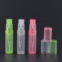 Plastic   Plastic Perfume Spray Empty Bottle 2ML Refillable Sample Cosmetic Container Mini Small Round Atomizer For Lotion Skin Softer Sample JF-136