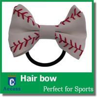 baseball clips - 2017 Baseball Hair Bow made from Real Softball You pick colors