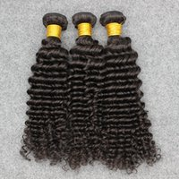 Wholesale Vinsteen Brazilian Virgin Unprocessed Human Hair Weaves Bundles Mixed Length Straight Deep Wave Loose Thick Ends A Best Natural Color