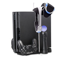 Wholesale 5 in Storage Bracket Base Vertical Stand Holder for PS4 Slim PS4 Pro VR Headset Charging Station for PS Move PS4 Controller