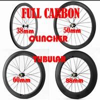 Wholesale 2017 NEW mm mm mm mm Depth mm width Clincher Tubular Carbon Wheels Novatec271 hub bike wheelset carbon bicycle wheels