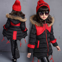 babies outer jacket - Baby Kids Clothing Outwear coat Fashion Girl winter coat for girls overcoat coats jackets children hooded fur collar outer wear
