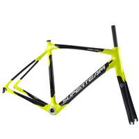 Wholesale Superteam Carbon Frame c Wheel Road Bike Frameset cm with BSA