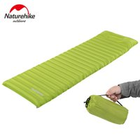 air filled pillow - Naturehike Sleeping Pad Fast Filling Air Bag Super Light Camping Mat With Pillow Portable Beach Mat For Rescue Life Cushion g