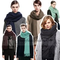Wholesale Fashion Women Solid Color blanket Scarf Man s Neckerchief Winter warm Oversized Neck Shawl Wrap Scarves Stole Pashmina M540